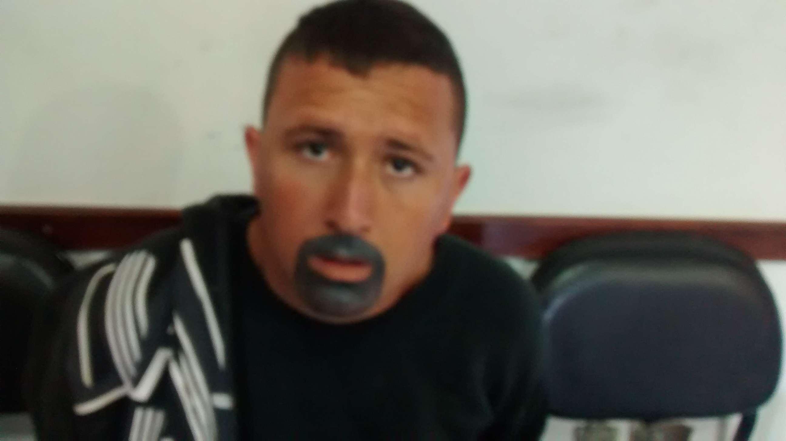 MG: ladrão pinta o rosto com canetinha para simular barba Foto: GM Itajubá/Divulgação