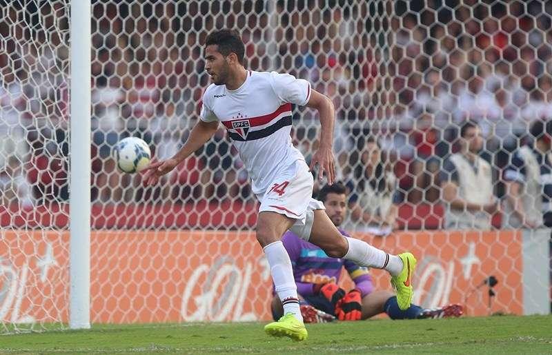 Alan Kardec fez o segundo gol da vitória do São Paulo Foto: Rubens Chiri/São Paulo FC/Divulgação