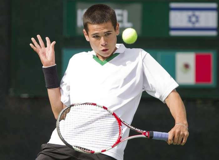 Lucas Gómez, tenista mexicano. Foto: http://www.itftennis.com/