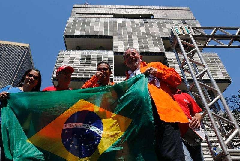 Ex-presidente Luiz Inácio Lula da Silva em ato em defesa do pré-sal no Rio de Janeiro. 15/9/2014 Foto: Sergio Moraes/Reuters