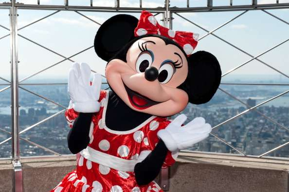 Minnie Mouse tiene unas envidiables pestañas largas Foto: Getty Images