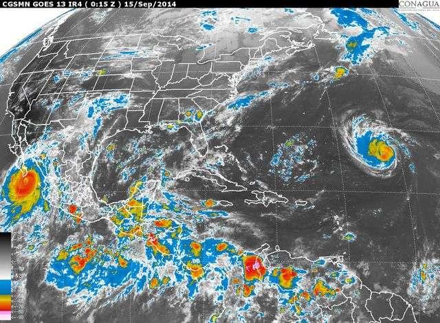 Imagen satelital del territorio mexicano Foto: SMN