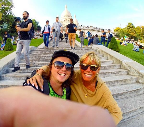 La dupla en París. Foto: Reproducción Instagram.