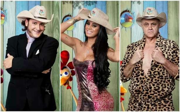 Roy, Lorena e Maroni: destaques no primeiro dia do reality. Foto: Divulgação