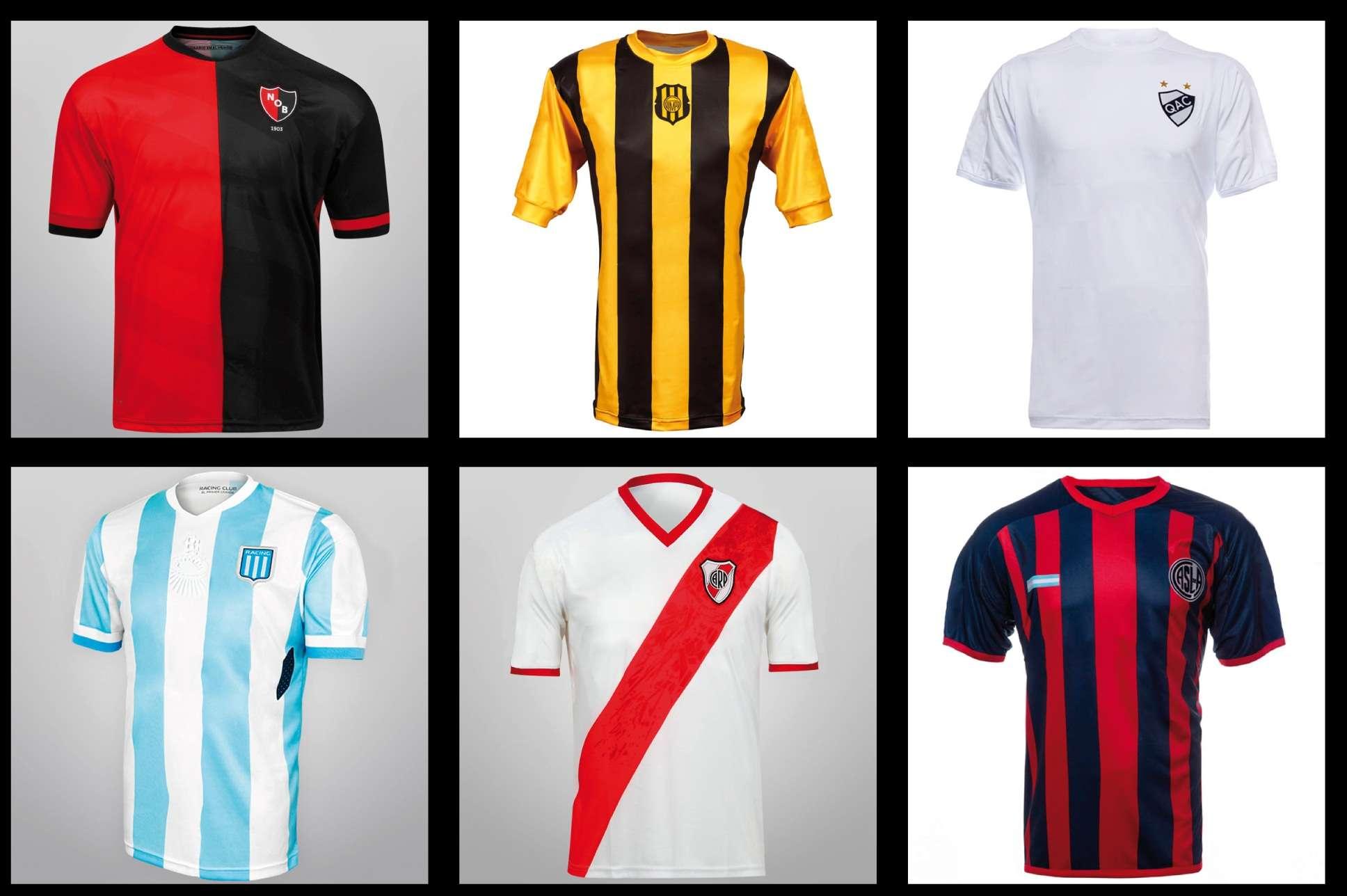 Fútbol argentino: así serían las camisetas sin publicidad Foto: lacasaca.com/Web