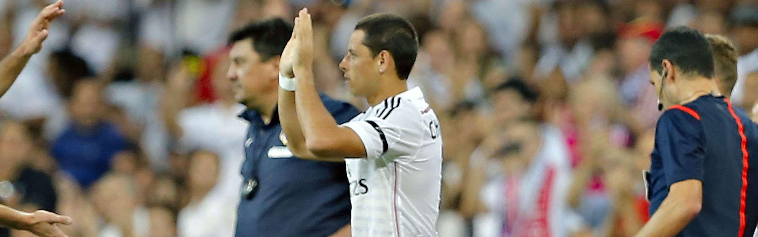 Javier Hernández jugó los últimos 10 minutos en la goleada de Real Madrid sobre el Basilea. Foto: Imago7