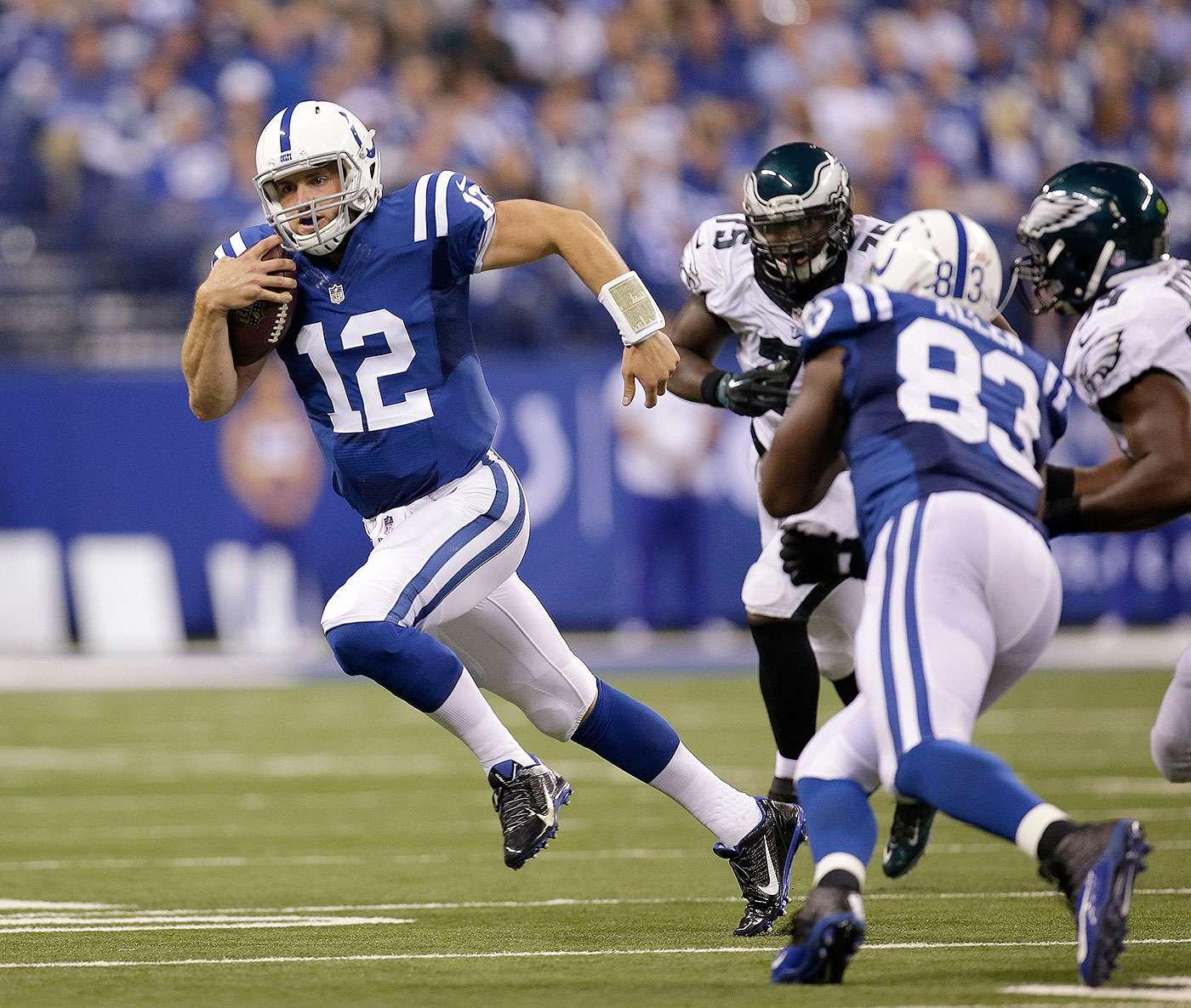 Con un gol de campo de 36 yardas del novato Cody Parkey, los Philadelphia Eagles remontaron una desventaja de 14 puntos al medio tiempo para derrotar 30-27 a los Indianapolis Colts en el cierre de la semana 2 de la NFL 2014. Foto: AP