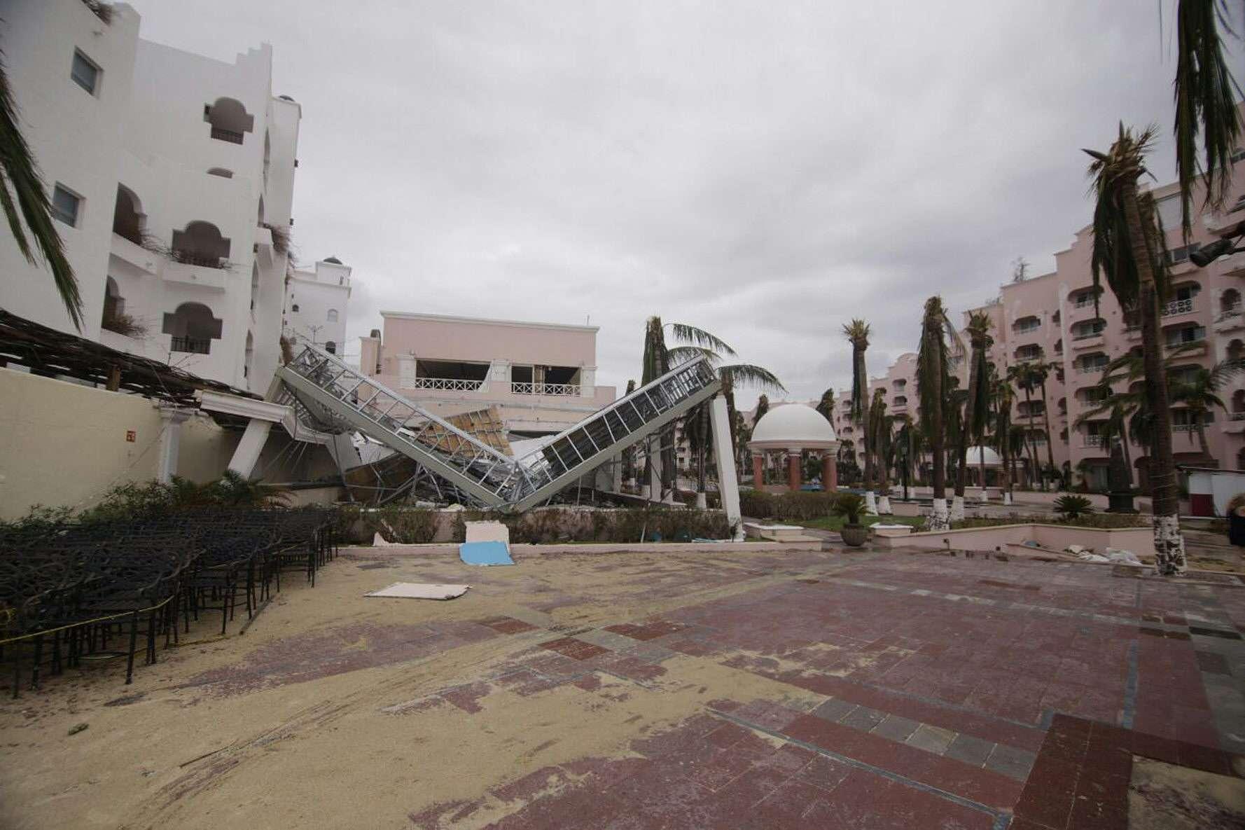 Ciclone tem causado destruição no México Foto: Oscar Ramírez/EFE