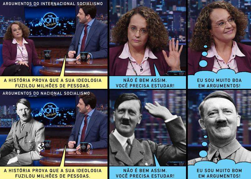 Gentili compara Luciana Genro a Hitler; candidata rebate Foto: Facebook/Reprodução