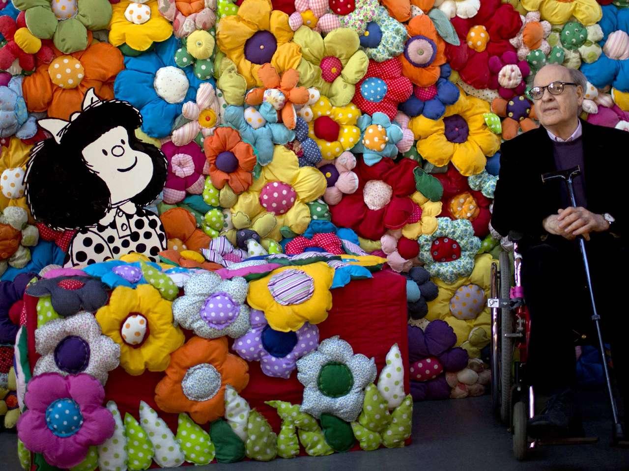 Mafalda y Quino. Foto: AP