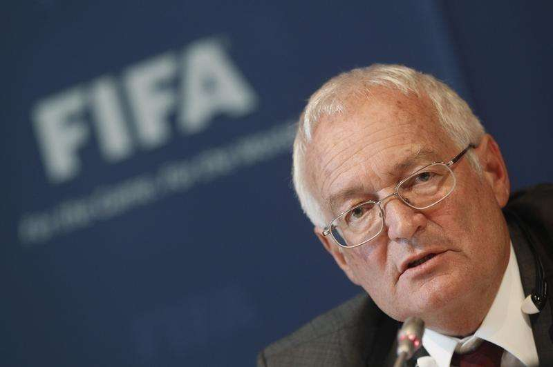 Hans-Joachim Eckert, Chairman of the adjudicatory chamber of the FIFA Ethics Committee attends a news conference at the at the Home of FIFA in Zurich July 27, 2012 Foto: Michael Buholzer/Reuters