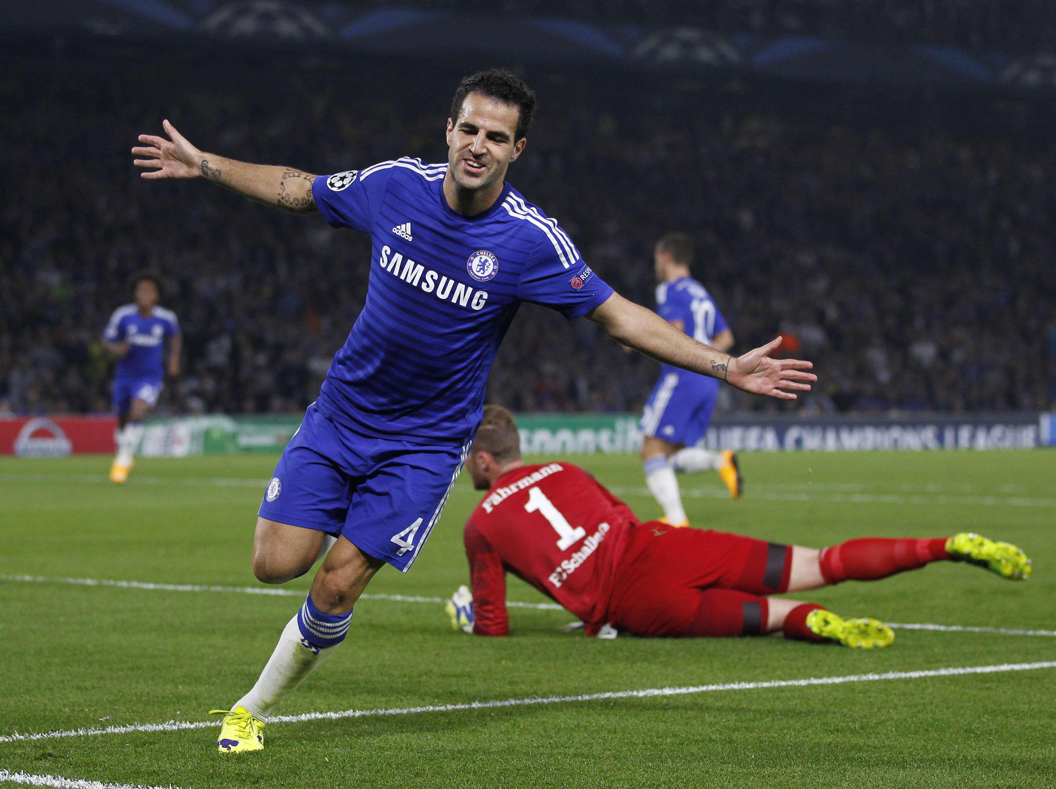 Fábregas abriu o placar para o Chelsea Foto: Ian Kington/AFP