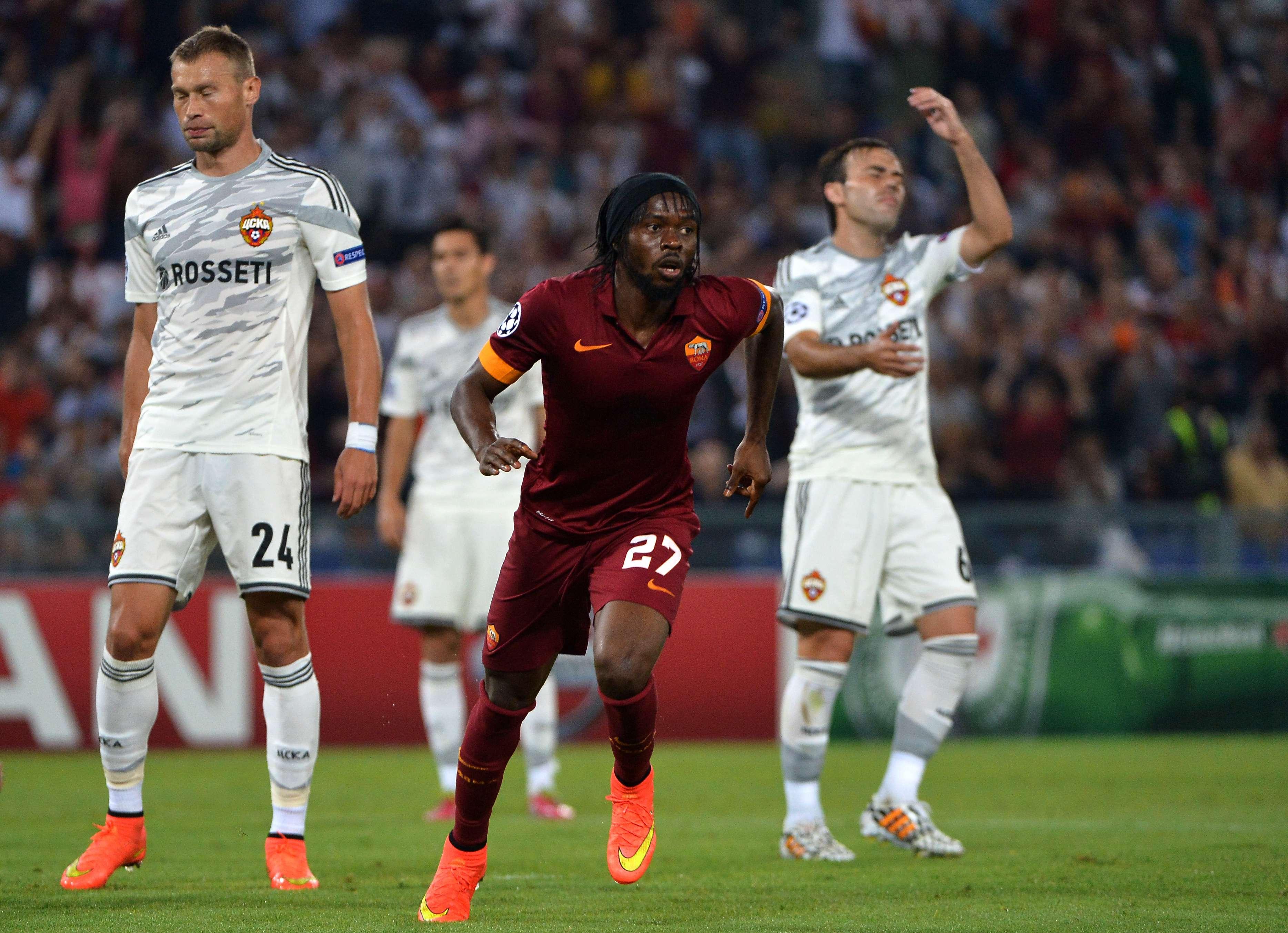 Gervinho marcou duas vezes na goleada da Roma Foto: Alberto Pizzoli/AFP