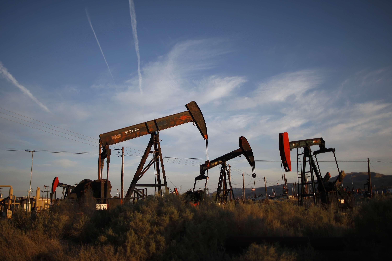 Pozos de extracción de petróleo en la formación de esquisto Monterey, California. Foto: Getty Images
