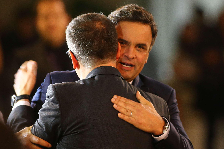 Aécio Neves atacou Dilma durante o debate Foto: Marcos Bezerra/Futura Press
