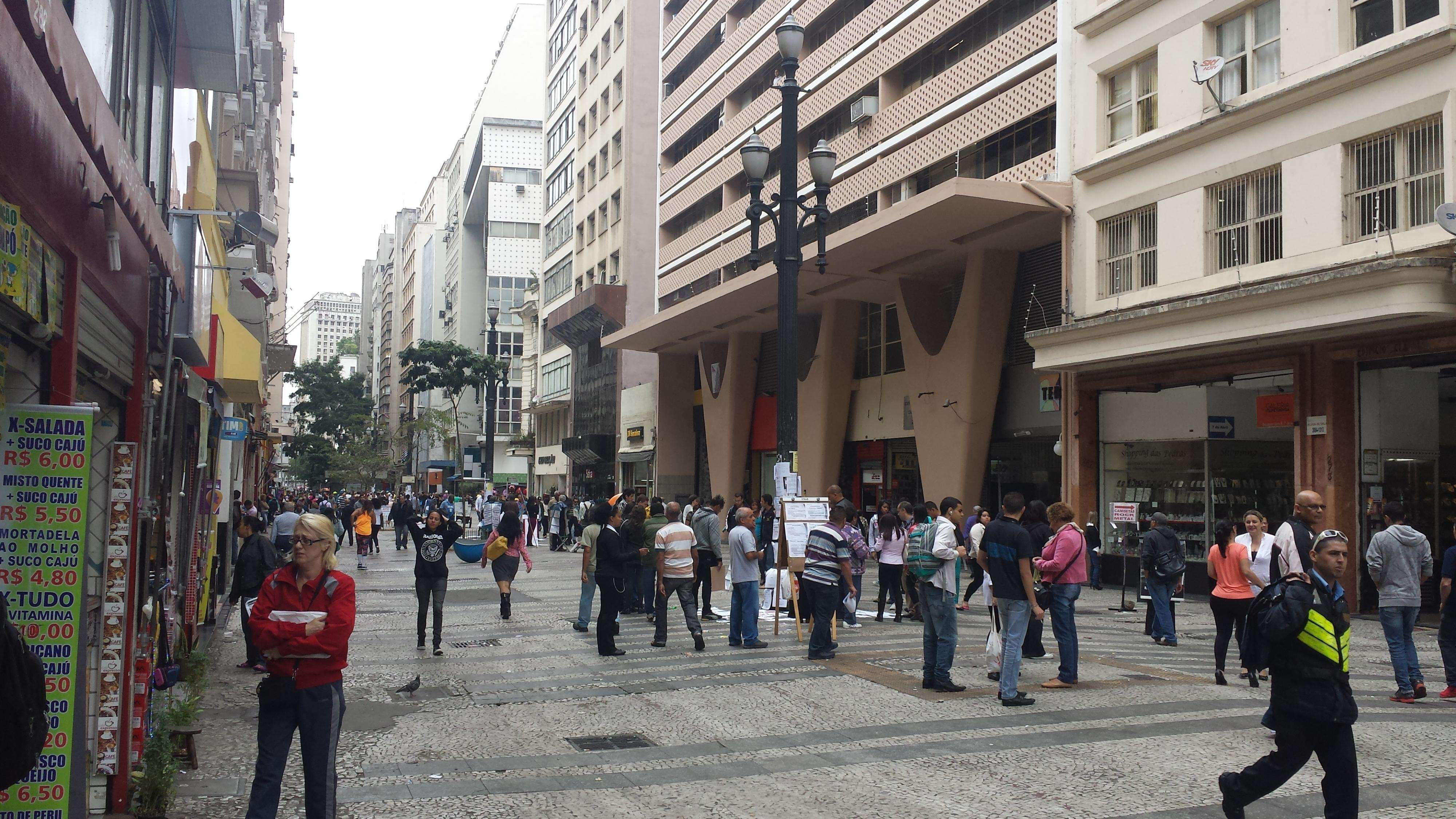 Centro de São Paulo tem manhã tranquila após caos vivido na terça-feira Foto: Thiago Tufano/Terra