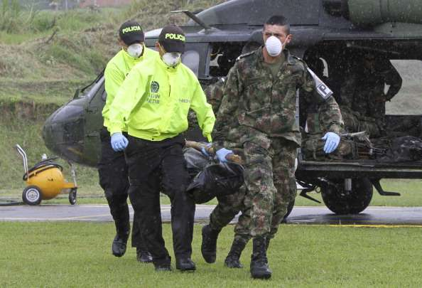 """Según las primeras investigaciones, el hecho fue perpetrado por """"el Frente 58 de las FARC sirviéndole a los intereses del narcotráfico Foto: Getty Images/Archivo"""