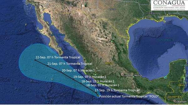 """Mientras tanto, """"Odile"""" se desplaza hacia el estado de Sonora, donde se prevé impacte en las próximas horas de este miércoles. Foto: Twitter/@conagua_clima"""