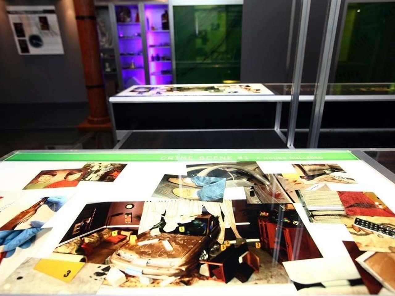 Exposición de 'CSI'. Foto: Juan Ignacio Ortega/Reforma