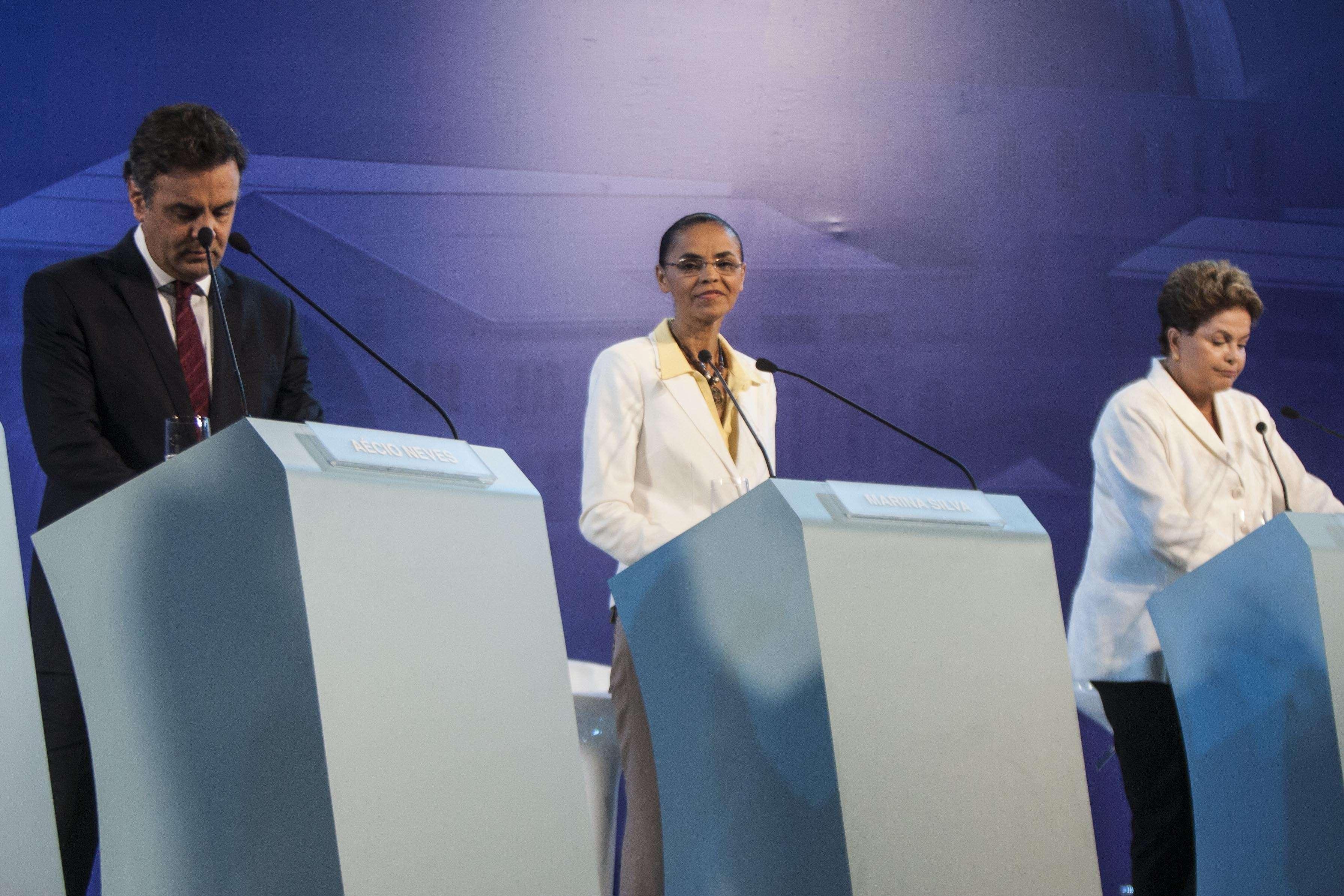 Dilma, Marina e Aécio se livraram de temas polêmicos durante o debate Foto: Vagner Campos/MSilva Online