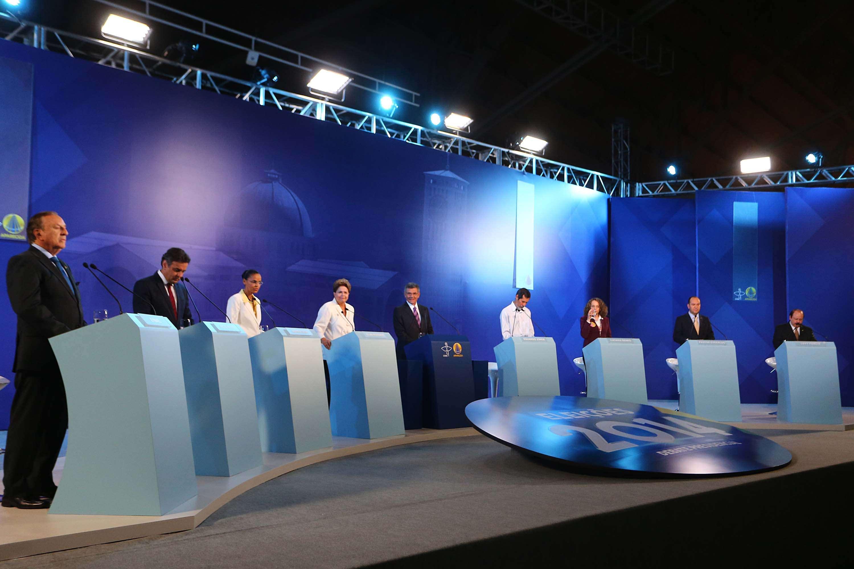 Oito candidatos participaram do evento e Eymael (PSDC) foi a novidade Foto: Marcos Bezerra/Futura Press