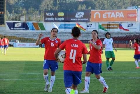 """Las """"Chicas de Rojo"""" jugarán el jueves con Brasil Foto: Reproducción C.B./CONMEBOL.com"""