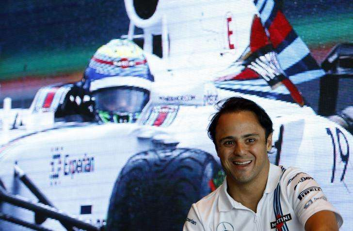 Piloto da Williams Felipe Massa durante enconto com fãs em evento promovido pela Reuters em Cingapura. 17/09/2014 Foto: Edgar Su/Reuters