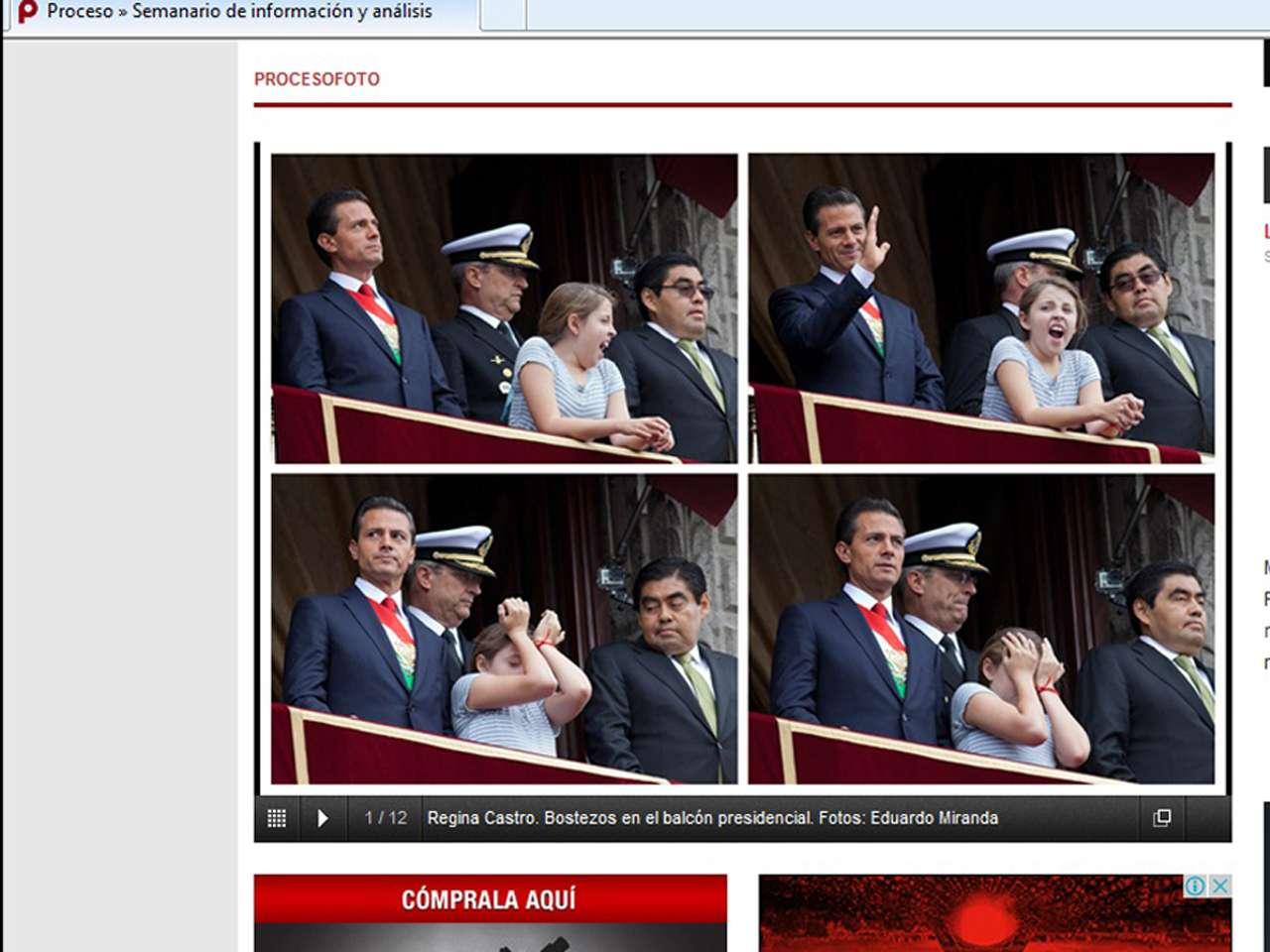 El semanario Proceso realizó publicó en su sitio web una composición con las imágenes de la hijastra del presidente Foto: Especial/Imagen tomada de proceso.com.mx