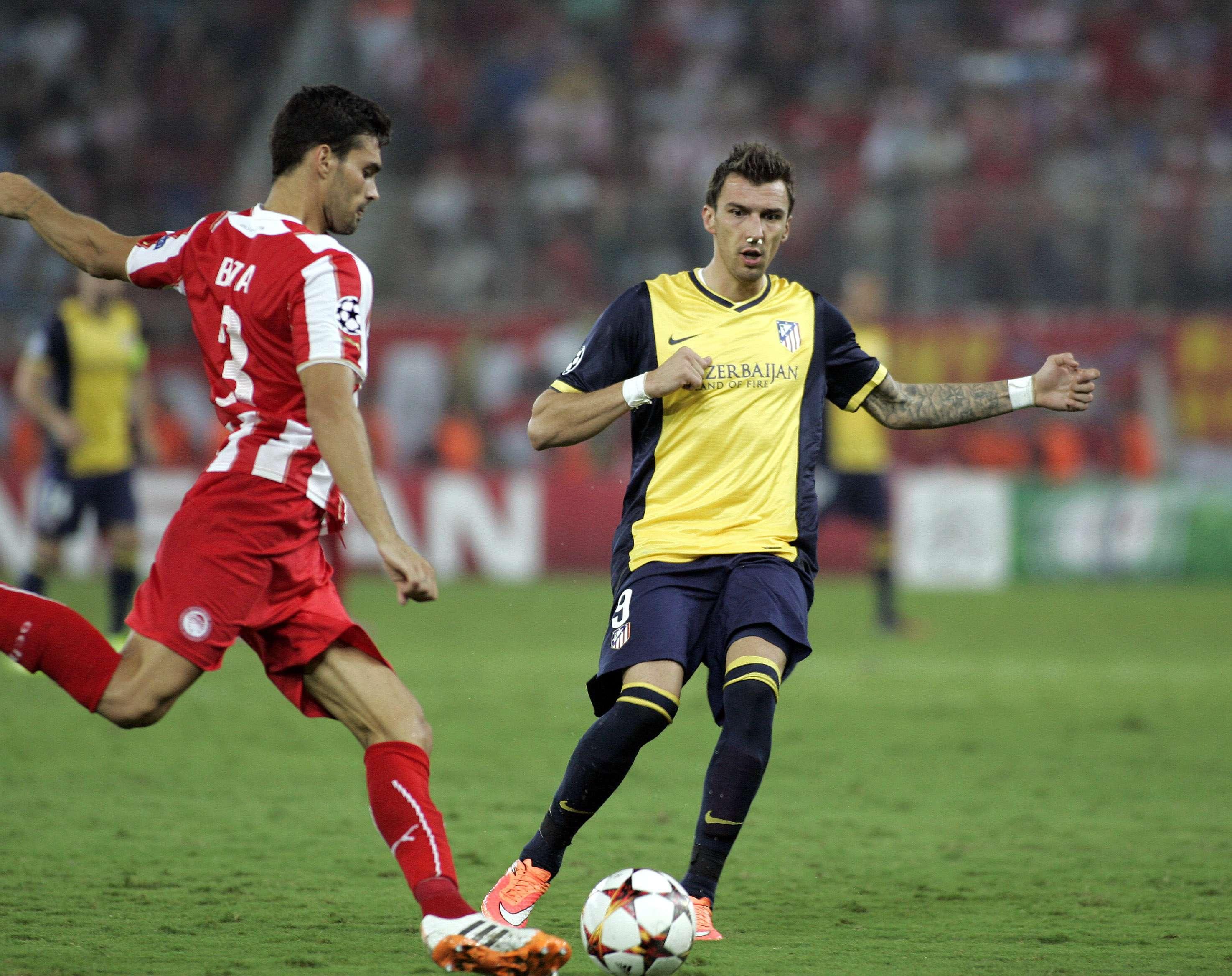 Mandzukic jugó con la nariz rota desde el minuto 3. Foto: Getty Images