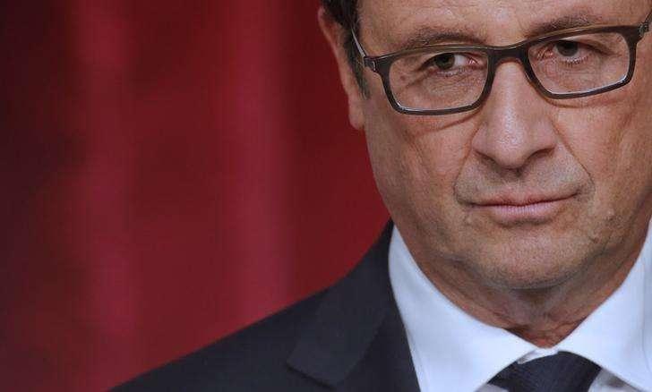 Presidente francês, François Hollande, em cerimônia no Palácio do Eliseu em Paris. 17/09/2014 Foto: Christian Hartmann/Reuters