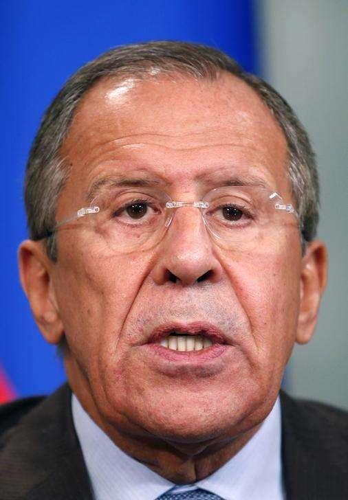 Chanceler russo, Sergei Lavrov, durante entrevista coletiva em Moscou. 29/09/2014 Foto: Maxim Zmeyev/Reuters