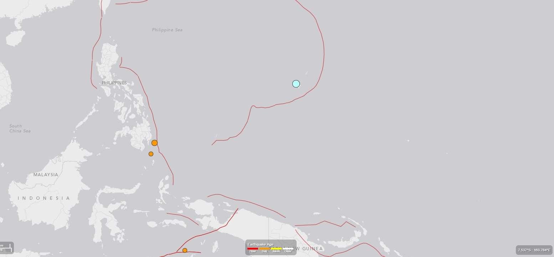 Terremoto atingiu a ilha no Pacífico nesta quarta-feira Foto: USGS/Reprodução