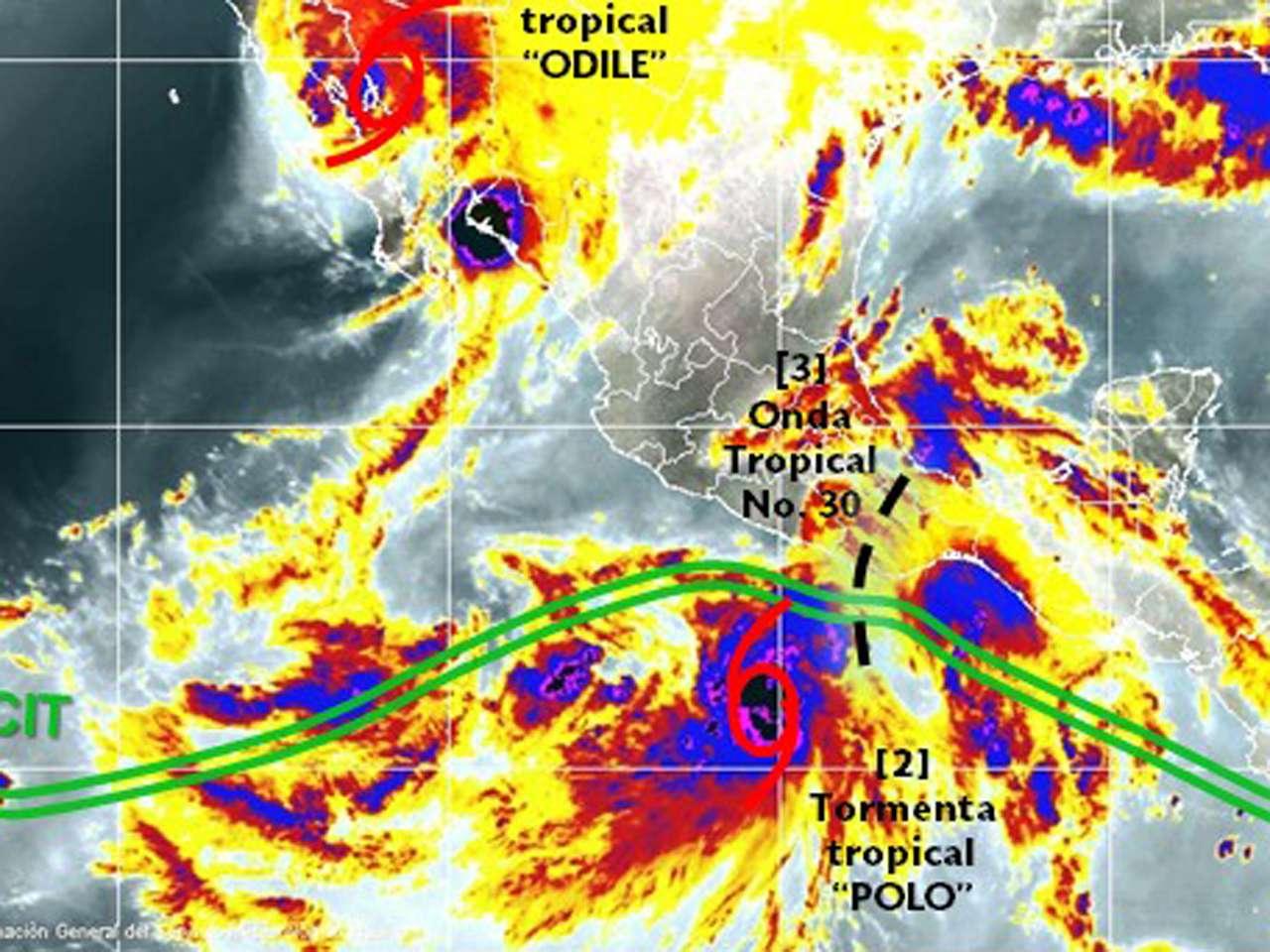 """""""Polo"""" podría generar lluvias en entidades que se vieron afectadas por el huracán """"Odile"""" Foto: Conagua"""