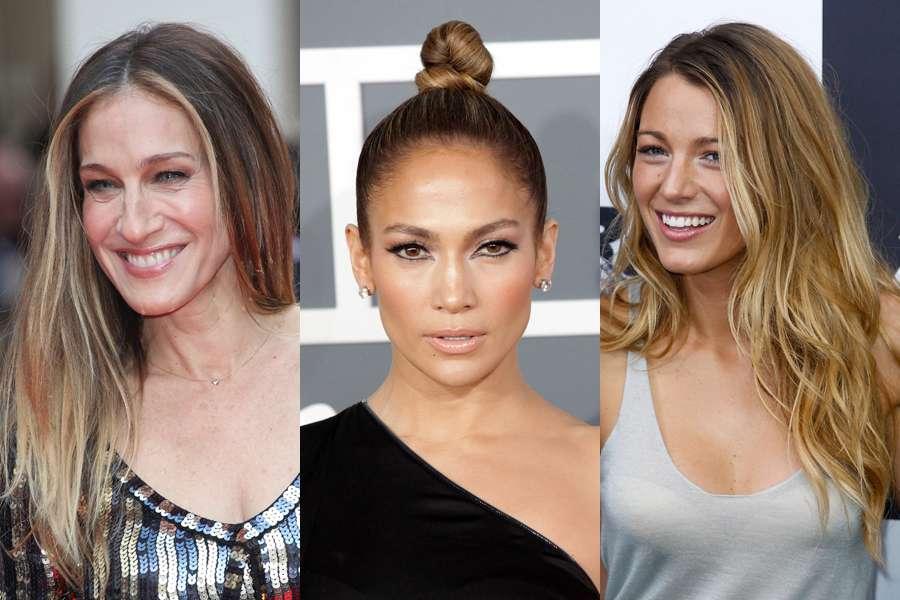 O cabelo, que é a moldura do rosto, pode fazer você parecer mais magra, assim como Sarah Jessica Parker, Jennifer Lopez e Blake Lively Foto: Shutterstock