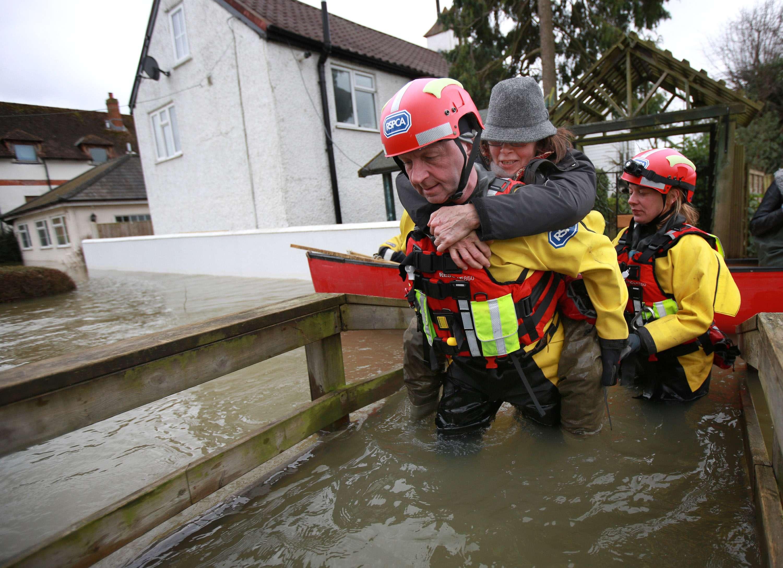 O Reino Unido foi atingido por inundações fortes em 2014 Foto: Peter Macdiarmid/Getty Images