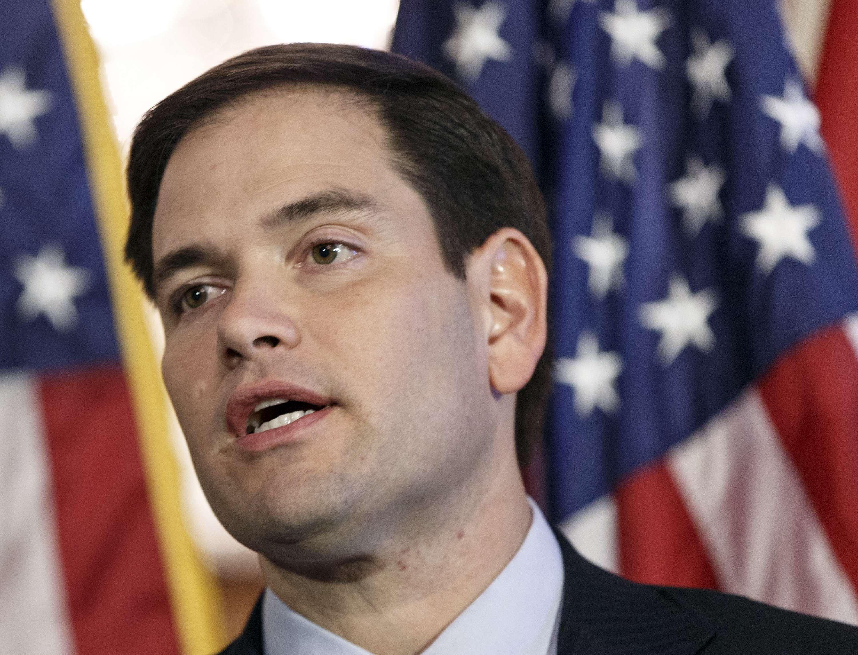 El senador republicano Marco Rubio habla en el capitolio en Washington, en foto de archivo del 8 de enero de 2014. Foto: AP en español