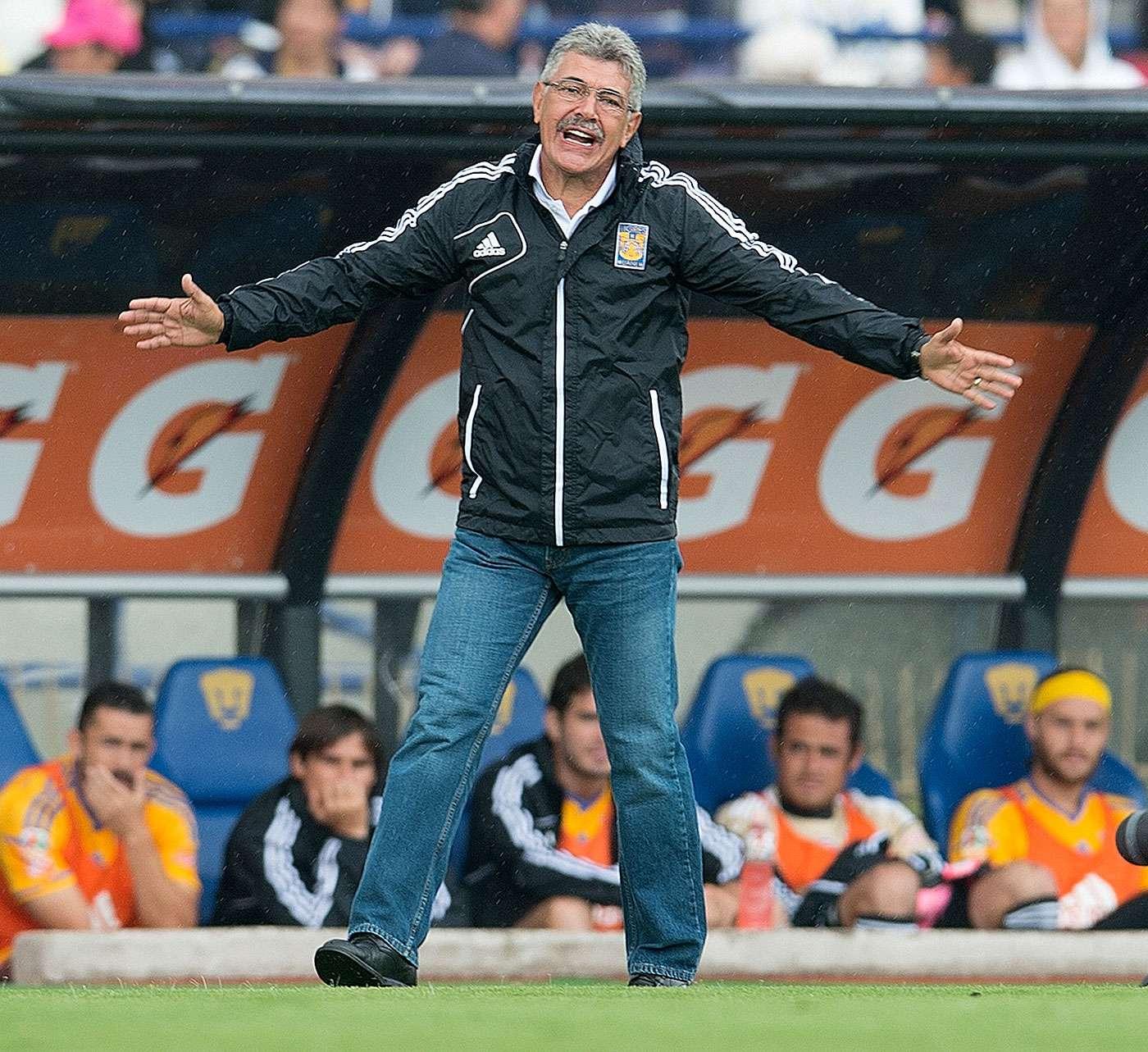 Ricardo 'Tuca' Ferretti, técnico brasileño de Tigres de la UANL. Foto: David Leah/Mexsport