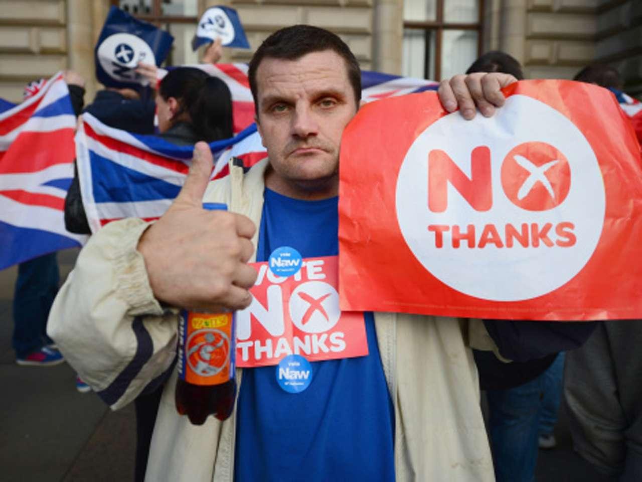 Cerca de 4.3 millones de escoceses votarán este jueves sobre la escisión del Reino Unido Foto: Getty Images