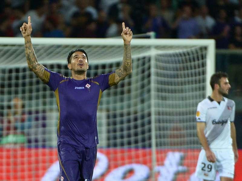 Juan Manuel Vargas lleva 4 goles en competencias europeas. Foto: AFP