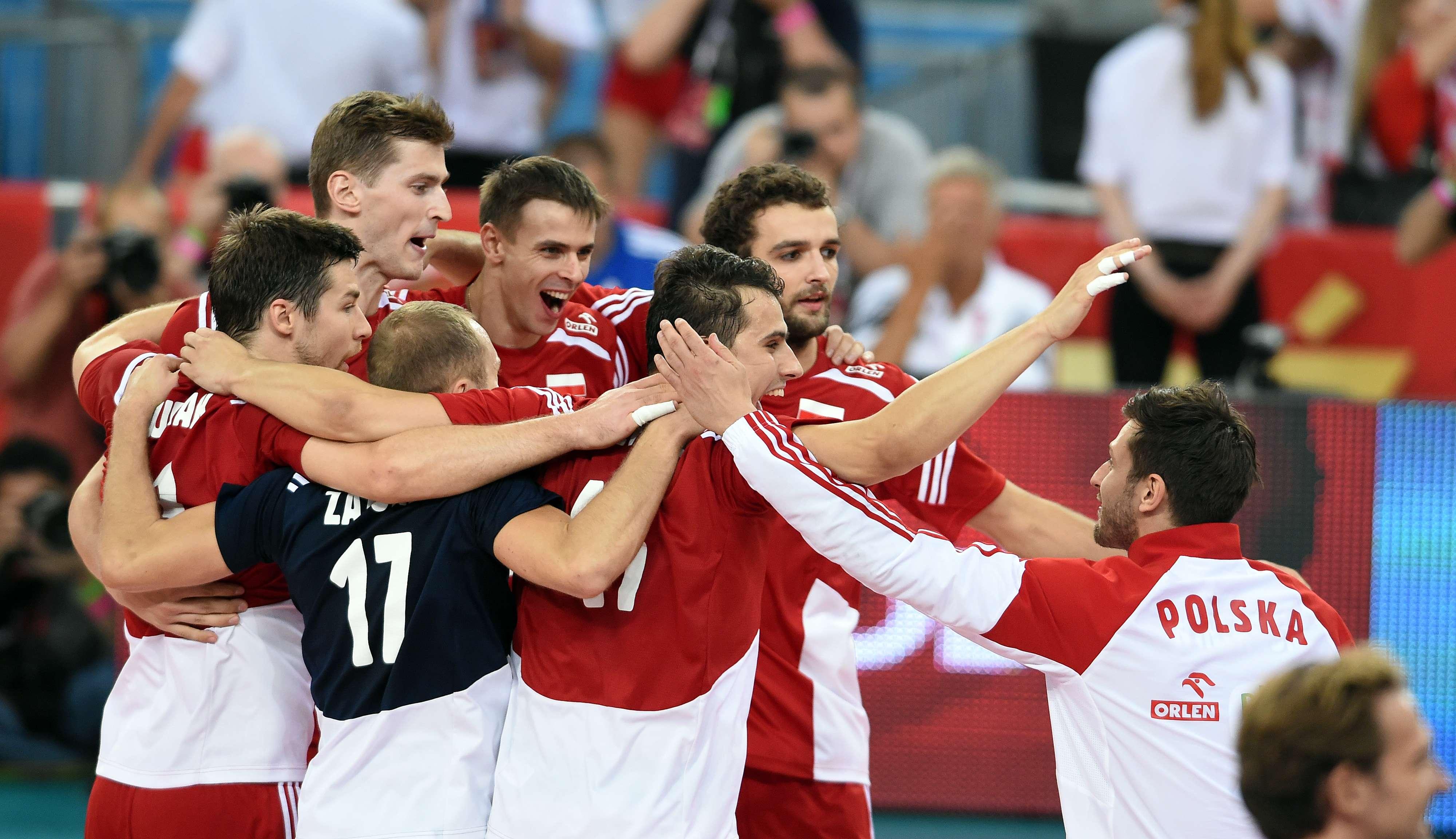 Polônia comemora vaga na semifinal do Mundial Foto: FIVB/Divulgação