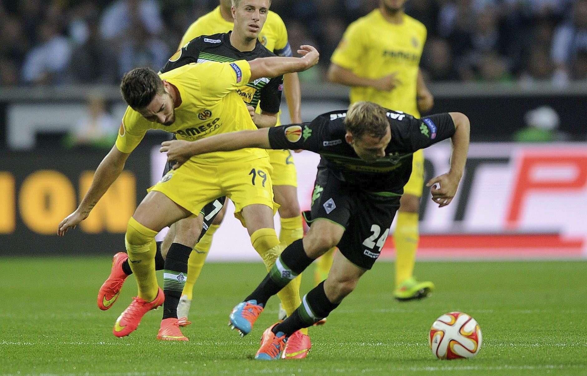 'Gladbach y Villarreal se volverán a ver las caras, pero ahora en España. Foto: EFE