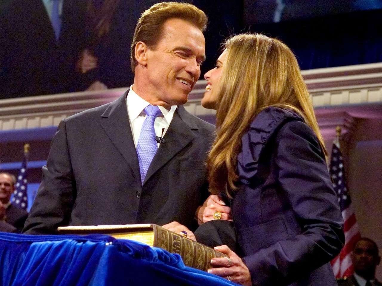 Arnold Schwarzenegger y Maria Shriver. Foto: Getty Images