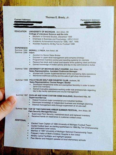 Brady realizó varias pasantías durante su etapa como universitario. Foto: Facebook Tom Brady