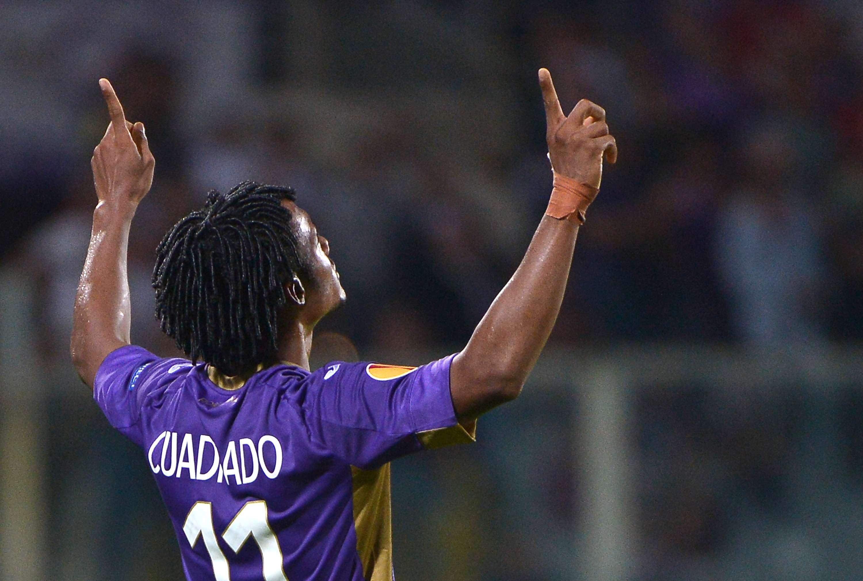 Cuadrado vibra com gol da Fiorentina Foto: Alberto Pizzoli/AFP