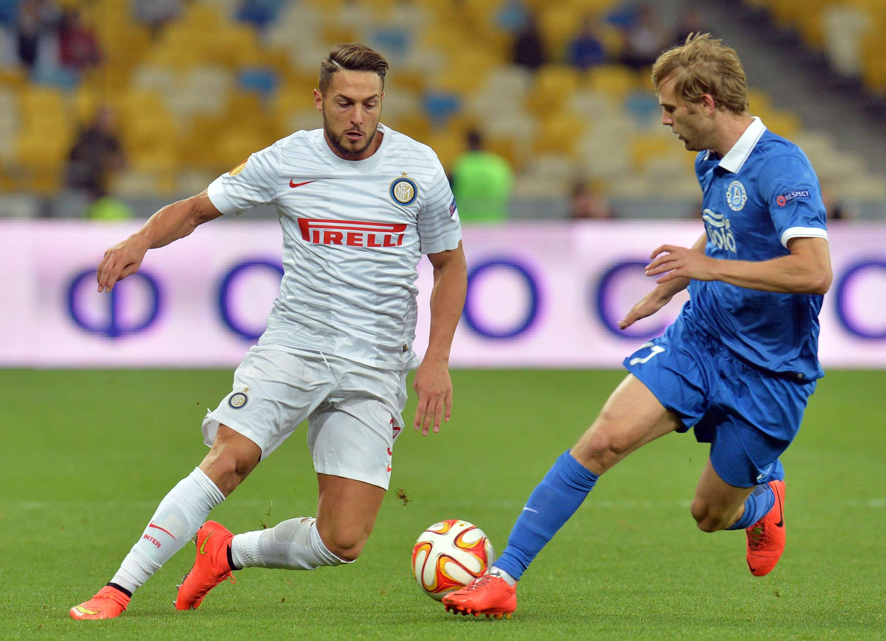 D'Ambrosio marcou o gol da vitória para os italianos Foto: Gebya Savilov/AFP