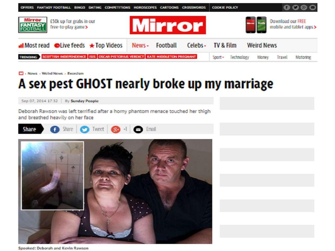 Una mujer identificada como Deborah Rawson aseguró que un fantasma trató de abusar sexualmente de ella. Foto: mirror.co.uk