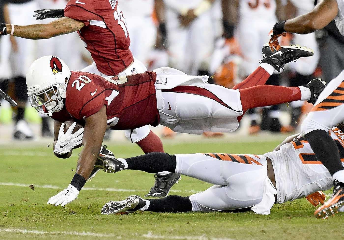 Jonathan Dwyer sumó 51 yardas y un touchdown en 16 acarreos en los dos partidos de esta temporada con los Arizona Cardinals. Foto: Christian Petersen/Getty Images