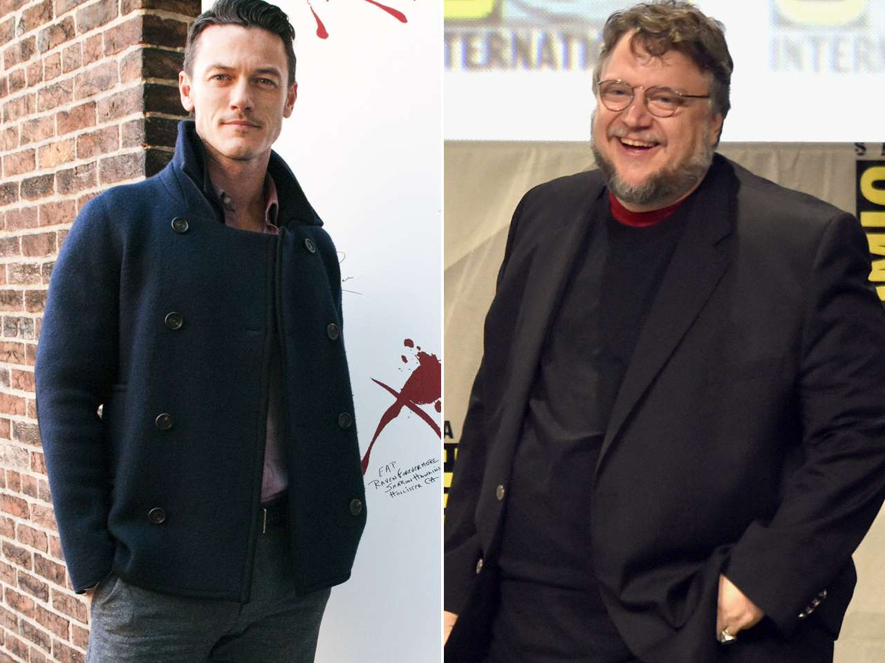 Luke Evans y Guillermo del Toro. Foto: Getty Images