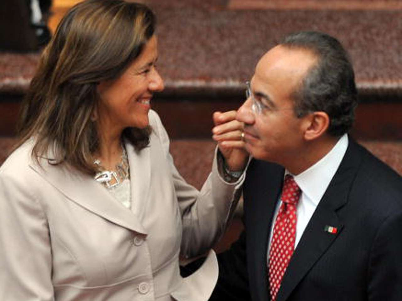 Margarita Zavala y su esposo, el expresidente Felipe Calderón Foto: Getty Images/Archivo