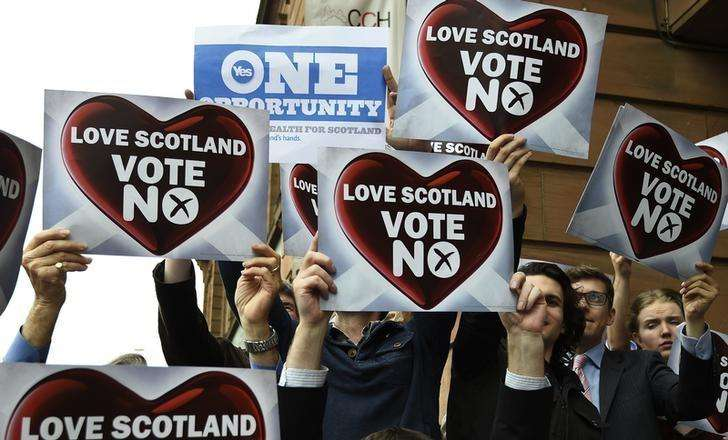 Marcha pela independência da Escócia em Edimburgo. 18/09/2014 Foto: Paul Hackett/Reuters